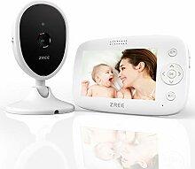 Babyphone mit Kamera, ZREE 4,3 Zoll Video