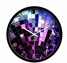 BABYQUEEN 10 Zoll Elegante Minimalistische Digitale Kunst Wanduhr Wohnzimmer Mute Dekorative Uhr Schwarz