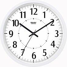 BABYQUEEN 10 Zoll Wanduhr garten Lebende kunst kreativ Uhr mute Mode glück Quarzuhr Allgemeine Ausgabe Weiß