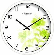 BABYQUEEN 12 Zoll Mode Einfache Pastorale Kunst Wanduhr Wohnzimmer Kreative Dekoration Uhr Weiß