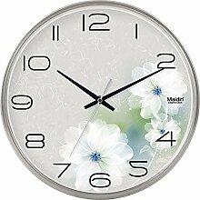 BABYQUEEN 12 Zoll Mode Wanduhr Büro Die Wohnzimmer Einfache Stille Uhr Kreative Quartz Dekoration Uhr