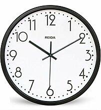 BABYQUEEN 12 Zoll Modern Quartz Wanduhr Stumm Büro Die Wohnzimmer Europäischen Stil Design Dekoration Uhr Schwarz