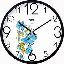 BABYQUEEN 12 Zoll Wanduhr garten Lebende kunst kreativ Uhr mute Mode glück Quarzuhr Allgemeine Ausgabe Schwarz