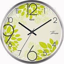 BABYQUEEN 12 Zoll Wanduhr garten Lebende kunst kreativ Uhr mute Mode glück Quarzuhr Allgemeine Edition Silber
