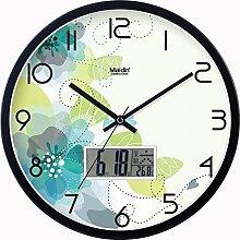 BABYQUEEN 14 Zoll Kreative Moderne Dekoration Wanduhr Wohnzimmer Schlafzimmer Mute Mode Kreativer Kunst Uhr Ein Schwarzes