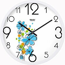 BABYQUEEN 16 Zoll Wanduhr garten Lebende kunst kreativ Uhr mute Mode glück Quarzuhr Allgemeine Ausgabe Weiß