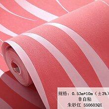 BABYQUEEN 3D Stereo Wellen Vlies Tapete Welligkeit Stereo Beflockung Wand Wohnzimmer Schlafzimmer Tapete Rot 0.53*10m