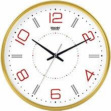BABYQUEEN 8 Zoll Stilvolle Wanduhr Wohnzimmer Büro einfache Silent clock Wand kreativ Clock Kalender Allgemeine Edition Gold
