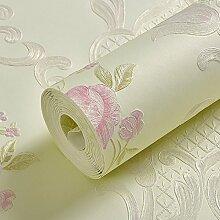 BABYQUEEN Amerikanische Ländliche Idylle Schlafzimmer Floweret Vlies Tapete Wohnzimmer Tv Wand Papier Hintergrund Hellgrün