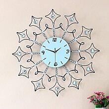 BABYQUEEN Continental Diamond Eisen Runde Kreative Wanduhr Kunst Atmosphärischen Mute Quarz Uhren
