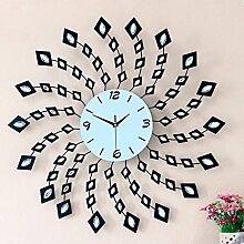 BABYQUEEN Creative Diamond Wanduhr einfache europäische Mode stille Kunst Dekoration Uhr