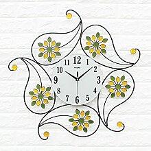 BABYQUEEN Dekorative Modern Und Stilvoll Kunst Wanduhr Persönlichkeit Kreative Uhr Wohnzimmer Quartz Wanduhr Stumm Farbe Diaman