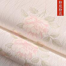 BABYQUEEN Der Mond Strukturtapete idyllische Blume warmen Schlafzimmer Tapete für Ihr Wohnzimmer Sofa Wand Vlies Hochzeit Zimmer RosaUntenRosaBlumen