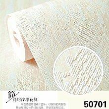 BABYQUEEN Dicke 3D Vision Relief Vlies Tapete Reine Farbe Minimalistischen Tapete Wohnzimmer Schlafzimmer Tapete Gelb 0.53*10m