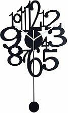 BABYQUEEN Digital swing Persönlichkeit einfache Moderne metall Wanduhr Mode kreativ Wohnzimmer Schlafzimmer verzieren Uhr
