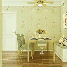 BABYQUEEN Ein Idyllischer Romantischer Tapete Umwelt Vliestuch Schlafzimmer Wohnzimmer Tv Hintergrundbild 0.53*10M Gelb