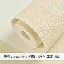 BABYQUEEN Einfache 3D Relief Textur Vlies Tapete Farbe Hintergrund Für Das Wohnzimmer Tv Tapete Schlafzimmer Reis Gelb 0.53*10m