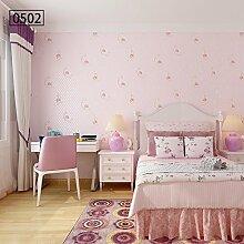 BABYQUEEN Europäische pastorale Tapete 3d Dreidimensionale nicht geprägte Tapeten Wohnzimmer Schlafzimmer Hintergrund gewebt C
