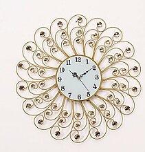 BABYQUEEN Europäischen Mute Jahr Wanduhr Crystal Creative Wohnzimmer Moderne Schlafzimmer Wanduhr Creative Uhr weiß