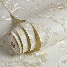 BABYQUEEN European Fine druck Vlies Tapete warmen Wohnzimmer Schlafzimmer Voll shop Stickerei TV Hintergrundbild Weißer Reis