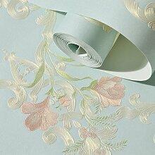 BABYQUEEN Frische Garten Wand Papier Prägevorgang 3D nicht Stoff gewoben Continental stereo Wohnzimmer Schlafzimmer Hintergrundbild Grün