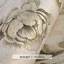 BABYQUEEN HintergrundbildUmwelt Vliestuch 3D dreidimensionales Relief Tapeten Schlafzimmer Wohnzimmer Tv Wand Mit Voller 0.53*10M Weißer Reis