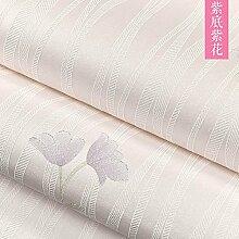 BABYQUEEN Koreanischen Blume Garten Vlies Schlafzimmer Tapete 3D-Geprägte Wohnzimmer Tv-Wand Papier Und Warmen Hintergrund Ersten Stock Lila Blüten 0.53*9.5m