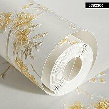 BABYQUEEN Koreanischen garten Tapeten in warmen Mädchen Schlafzimmer Ehe Zimmer Vlies Tapete frische Wohnzimmer Wand Gelb