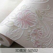 BABYQUEEN Koreanischen Stil angelegten Garten und einladendes Zimmer ehe Schlafzimmer Vlies Tapete Wohnzimmer TV Hintergrund 3D Vision Relief geblümten Tapeten Rosa Kristall pink flower