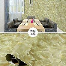 BABYQUEEN Küche Aufkleber Home Wasserdichte Ölbeständig Fliesen- Schränke Aufkleber Hellgrün Stein Relief