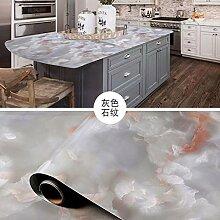 BABYQUEEN Küche Ölbeständig Tapete Marmor Home Selbstklebende Schränke Wasserdicht Mehltau Widerstandsfähige Oberfläche Aufkleber Grauen Stein Relief