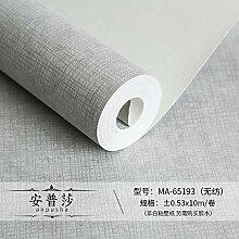 BABYQUEEN Moderne, einfache Ebene Non woven gestreifte Tapete Schlafzimmer Farbe Wohnzimmer TV Hintergrund Tapete Silbergrau