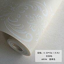 BABYQUEEN Moderne, einfache Vlies Tapete Schlafzimmer warmen Wohnzimmer TV Hintergrundbild Ingwer Gelb