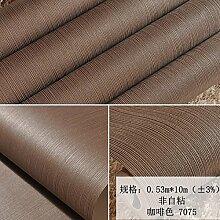 BABYQUEEN Pure Color Line Gestreifte Tapete Wohnzimmer Schlafzimmer Tapete Braun 0.53*10m