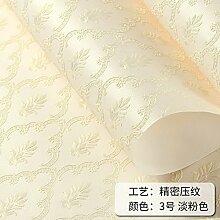 BABYQUEEN Reine Farbe Home Tapete Minimalistischen Schlafzimmer Wohnzimmer Tv Warm Hintergrundbild Hellrosa 0.53*10m