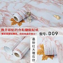 BABYQUEEN Selbstklebend dicke Mauer Papier Küchenschränke renoviert Möbel renoviert Marmor Papier für Wandplakate