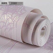 BABYQUEEN Tapete 0.53*9.5m Koreanischen Stil Garten Löwenzahn Tapete Vlies Mädchen Zimmer Warme Schlafzimmer 3D Relief Kleine Wallpaper Viole