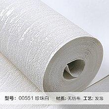 BABYQUEEN Tapete Modernen Minimalistischen Pure Pigment Farbe Vlies Tapete Schlafzimmer Wohnzimmer Tv Wand 0.53*10M Weiß
