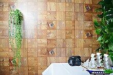 BABYQUEEN Viertel Wasserfeste Selbstklebende Tapete Wohnzimmer Schlafzimmer Wand Dicken Tapete Orange Quadra
