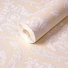 BABYQUEEN Vlies Tapete Geprägte Schlafzimmer Wohnzimmer Wanddekoration Umwelt Tapete Hellgelb 0.53*9.5m