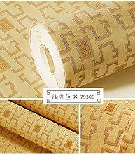 BABYQUEEN Vlies Tapete stereo Prägung der Chinesischen vergitterten minimalistischen Wohnzimmer Restaurant Tapete E