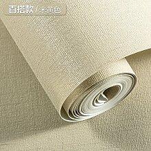 BABYQUEEN Vliestapeten reine Farbe einfache und moderne Wohnzimmer Schlafzimmer Studie TV Hintergrund Tapete Ein Reis Gelb