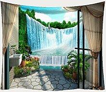 Babyqx Tapisserie Fenster Landschaftsdruck Decke