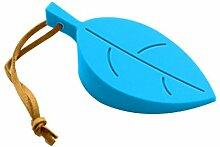Babysbreath 1x Silikon Blatt Blätter Home Türstopper Stopper Jammer Baby Sicherheitsschutz blau