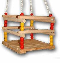 Babyschaukel aus Holz, Seillänge bis 140 cm