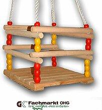 Babyschaukel aus Holz, Seillänge bis 190 cm