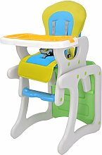 Babystuhl Baby Mehrzweck Kinder Dinette Esszimmer Portable Verstellbarer Stuhl ( Farbe : Grün )