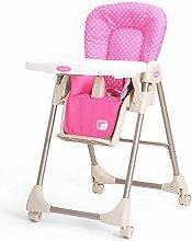 Babystuhl Mehrzweck-Baby-Esszimmer-Stuhl Faltende Kinder-Speisetisch Und Stühle Bewegliche Sitze ( Farbe : Pink )