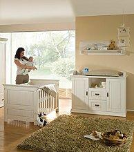 Babyzimmer 4tlg.Babybett Bettseiten Wickelkommode
