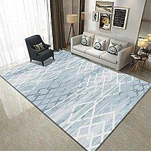 babyzimmer Junge Blauer Teppich Rechteck modern